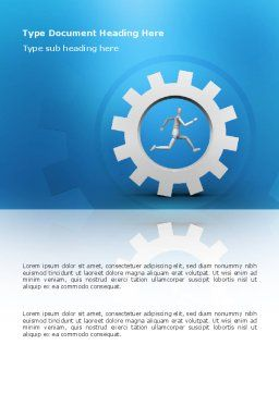 Running Word Template, Cover Page, 03028, Business Concepts — PoweredTemplate.com