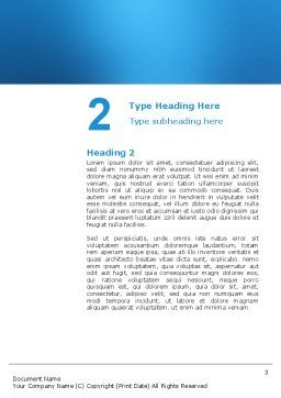 Running Word Template, Second Inner Page, 03028, Business Concepts — PoweredTemplate.com