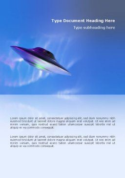 UFO Word Template, Cover Page, 03034, Technology, Science & Computers — PoweredTemplate.com