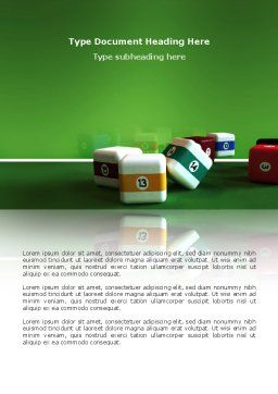 Cubic Billiard Balls Word Template, Cover Page, 03036, Business Concepts — PoweredTemplate.com