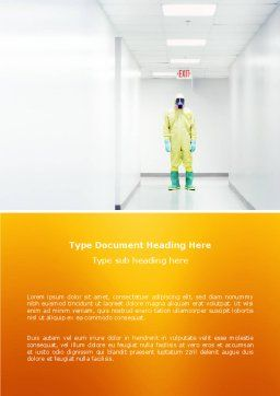 Chemical Contamination Word Template, Cover Page, 03038, Nature & Environment — PoweredTemplate.com