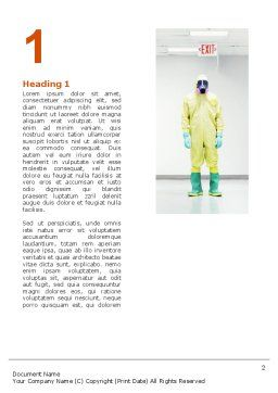 Chemical Contamination Word Template, First Inner Page, 03038, Nature & Environment — PoweredTemplate.com