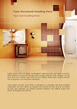 Bathroom Word Template, Cover Page, 03039, Careers/Industry — PoweredTemplate.com