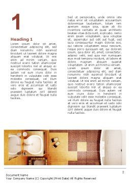 Bathroom Word Template, First Inner Page, 03039, Careers/Industry — PoweredTemplate.com