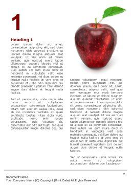 Red Apple Word Template, First Inner Page, 03041, Agriculture and Animals — PoweredTemplate.com