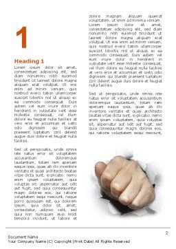 Fist Of Force Word Template, First Inner Page, 03043, Business Concepts — PoweredTemplate.com