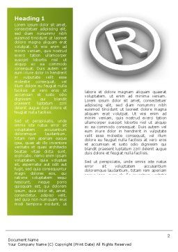 Registered Trademark Word Template, First Inner Page, 03046, Legal — PoweredTemplate.com