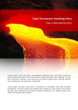 Volcano Lava Word Template Cover Page