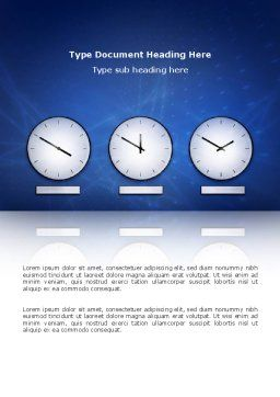 Hours Word Template, Cover Page, 03050, Business — PoweredTemplate.com