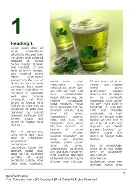 St Patrick's Day Word Template, First Inner Page, 03051, Food & Beverage — PoweredTemplate.com