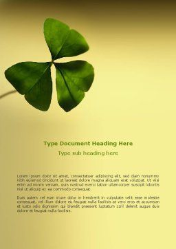 Shamrock Word Template, Cover Page, 03052, Nature & Environment — PoweredTemplate.com
