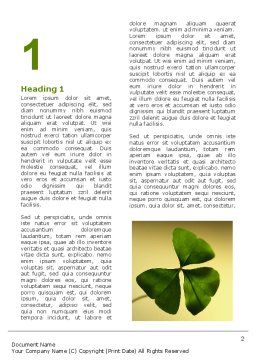 Shamrock Word Template, First Inner Page, 03052, Nature & Environment — PoweredTemplate.com