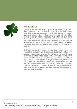 St. Patrick Word Template Second Inner Page
