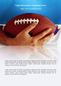 American Football Ball And Rugby Ball Word Template, Cover Page, 03055, Sports — PoweredTemplate.com