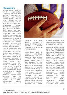 American Football Ball And Rugby Ball Word Template, First Inner Page, 03055, Sports — PoweredTemplate.com