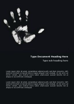 Hand Print Word Template Cover Page