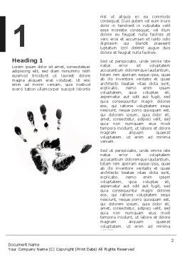 Hand Print Word Template First Inner Page