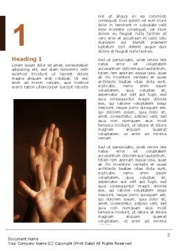 Hands Up Word Template First Inner Page