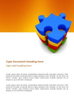 Puzzle Complete Word Template, Cover Page, 03061, Business Concepts — PoweredTemplate.com