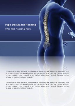 Spine Word Template, Cover Page, 03062, Medical — PoweredTemplate.com