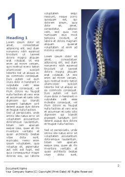 Spine Word Template, First Inner Page, 03062, Medical — PoweredTemplate.com