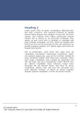 Spine Word Template, Second Inner Page, 03062, Medical — PoweredTemplate.com