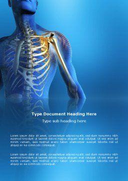 Bones Word Template, Cover Page, 03063, Medical — PoweredTemplate.com