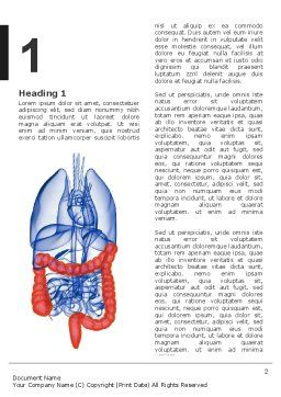 Bowels Word Template, First Inner Page, 03065, Medical — PoweredTemplate.com
