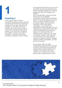Blue Jigsaw Word Template, First Inner Page, 03070, Business Concepts — PoweredTemplate.com