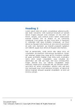 Blue Jigsaw Word Template, Second Inner Page, 03070, Business Concepts — PoweredTemplate.com