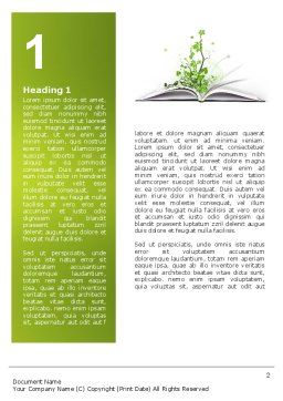 Knowledge Word Template, First Inner Page, 03072, Education & Training — PoweredTemplate.com