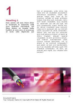 Copper Cable Word Template, First Inner Page, 03074, Telecommunication — PoweredTemplate.com