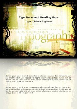 Typography Word Template Cover Page