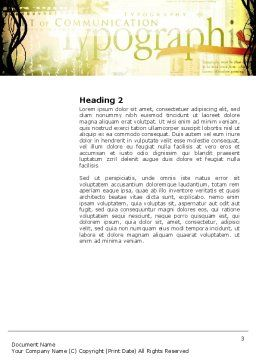 Typography Word Template Second Inner Page