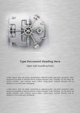 Bank Safe Word Template, Cover Page, 03078, Technology, Science & Computers — PoweredTemplate.com