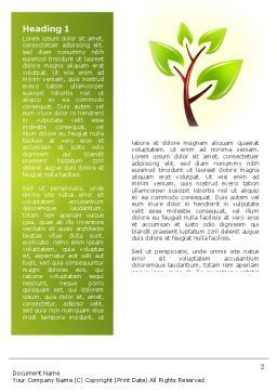 Green Health Word Template, First Inner Page, 03083, Nature & Environment — PoweredTemplate.com