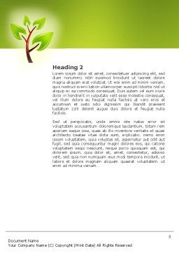 Green Health Word Template, Second Inner Page, 03083, Nature & Environment — PoweredTemplate.com