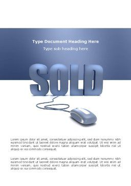 Sold Word Template, Cover Page, 03085, Technology, Science & Computers — PoweredTemplate.com