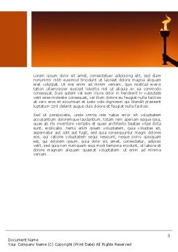 Olympic Torch Word Template, Second Inner Page, 03087, Sports — PoweredTemplate.com