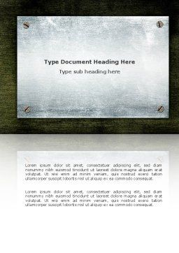 Steel Board Word Template, Cover Page, 03088, Abstract/Textures — PoweredTemplate.com