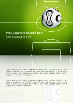 FIFA Word Template, Cover Page, 03090, Sports — PoweredTemplate.com