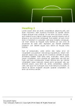 FIFA Word Template, Second Inner Page, 03090, Sports — PoweredTemplate.com