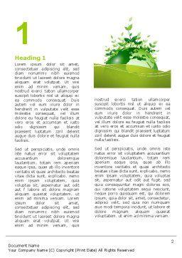 Green Environment Word Template, First Inner Page, 03091, Nature & Environment — PoweredTemplate.com