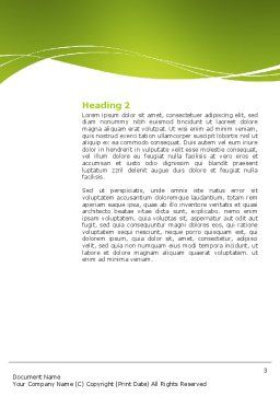 Green Environment Word Template, Second Inner Page, 03091, Nature & Environment — PoweredTemplate.com