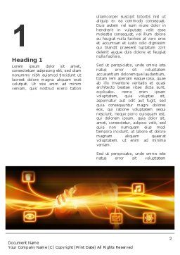 Wireless Communication Word Template, First Inner Page, 03093, Business Concepts — PoweredTemplate.com