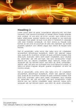Wireless Communication Word Template, Second Inner Page, 03093, Business Concepts — PoweredTemplate.com