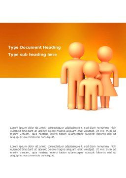 Family Care Word Template, Cover Page, 03094, Consulting — PoweredTemplate.com