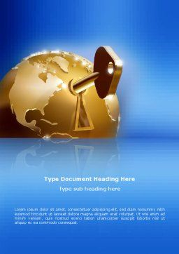 Global Keyhole Word Template Cover Page