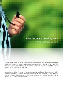 Referee Word Template, Cover Page, 03098, Sports — PoweredTemplate.com