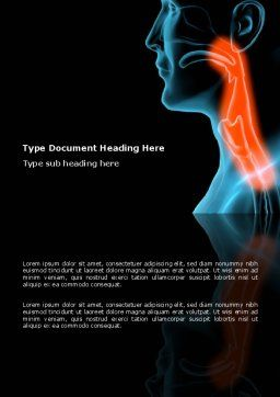Respiratory Tract Word Template, Cover Page, 03099, Medical — PoweredTemplate.com